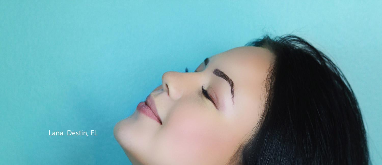 Microbalding eyebrow permanent makeup in Destin Fort Walton