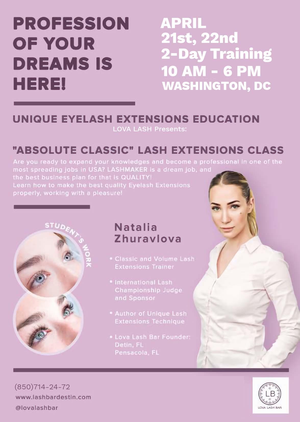 Eyelash Extensions Classes Training